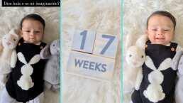 André cumple 17 semanas y lo celebra, ¿con su primer palabra?