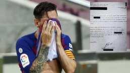 Filtrado supuesto burofax de Messi al Barcelona