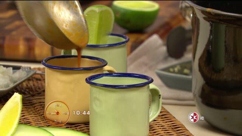 Cocina chfe Oropeza Caldo de camarón cantinero