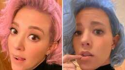 '¿Rosa o azul?': Fernanda Castillo se 'pinta' el cabello a días de convertirse en madre