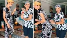 Erika Buenfil y su hijo se intercambian de ropa y hacen divertida parodia de una canción de reggaetón