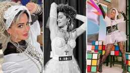 Andrea Legarreta se transforma en 'La Madonna mexicana' y roba suspiros con sus medias de red