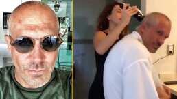 """""""Me veo guapísimo"""": Arath de la Torre muestra cómo lo raparon su esposa e hijas"""