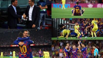 El Barcelona gana, pero pierde a su hombre ma´s importante ya que Lionel messi salió del juego por lesión al medio tiempo.