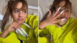 El mensaje oculto que Rosalía publicó sobre sus uñas en TikTok (VIDEO)