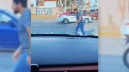 Cuando en México los coches te ceden el paso y terminas corriendo