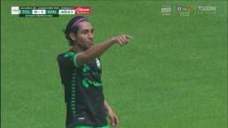 ¡Golazo de volea Gael Sandoval para el 0-1 del Santos!