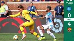 Exhibición del Barcelona ante el Napoli sin Messi