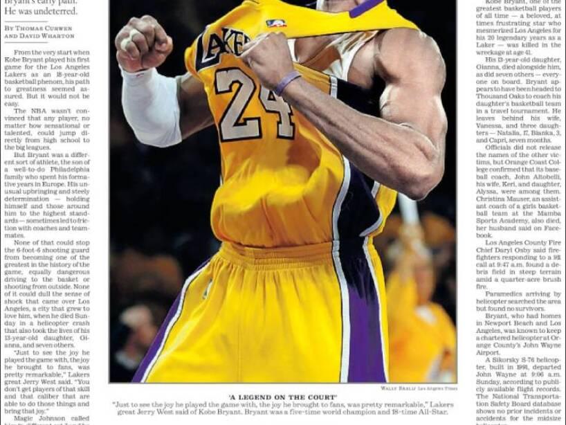 Kobe Bryant, periódico, LOS ANGELES TIMES.jpg