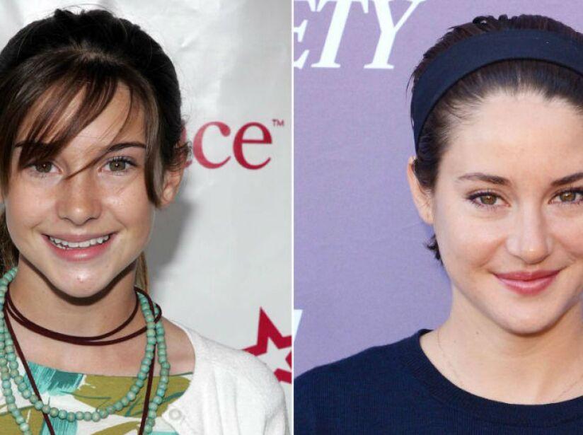 12. Shailene Woodley (24 años): La protagonista de la saga de Divergente no perdió su tímida sonrisa al crecer.