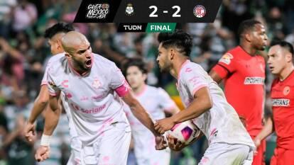 ¡Drama final! Santos le saca el empate a Toluca en el último segundo