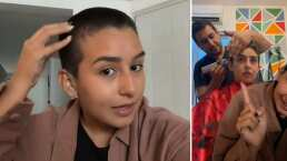 Romina Marcos se rapó por completo y revela el por qué de su drástico look
