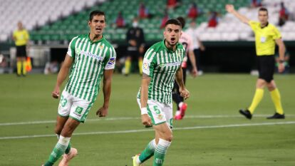 Betis venció al Espanyol y los empuja al fondo | Con la mínima diferencia, el conjunto de Guardado y Láinez derrotaron como locales al Espanyol.