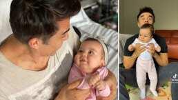 La bebé de Adrián Uribe debuta en TikTok y lo hace con tierno bailecito