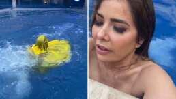 Gloria Trevi comparte video donde casi se ahoga en la alberca de su casa