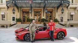 Charles Leclerc despertó a todos en las calles de Mónaco con su Ferrari