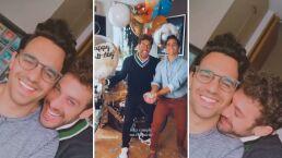 Lambda García recibe el mejor regalo de cumpleaños; pasarlo al lado de su novio Luja