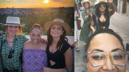 """Aislinn Derbez muestra lo """"aburrido"""" que es trabajar con sus amigas"""