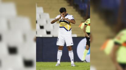 'Toto' Salvio festejó de esta forma tras marcar el 2-1 ante Godoy Cruz en partido correspondiente a la Copa Superliga de Argentina ¡Ya es una costumbre verlo festejar así!