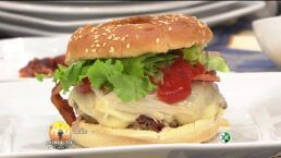 Cocina Chef Gibaja cocina hamburguesas Hoy 3 Julio