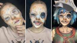 Este maquillaje de 2-D, de Gorillaz, será lo más impactante que verás hoy