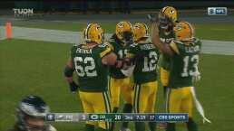 Otro touchdown entre Rodgers y Adams para los Packers