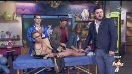 Tras la derrota del América, Yurem cumple apuesta y se depila las piernas durante programa en vivo