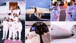 Así fue el jet privado que Kylie Jenner usó para viajar con sus amigas