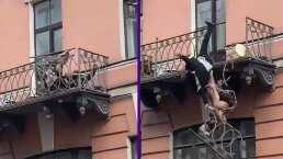 """""""Asumakina"""": Pareja cae de un balcón tras fuerte discusión en un segundo piso"""