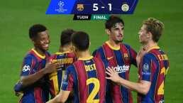 Messi y Ansu Fati guían la goleada del Barça en Champions