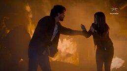 ¡Qué miedo! ¡Isabel cae desmayada en medio de un incendio!