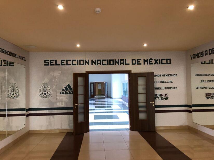 El búnker de México en Rusia, en imágenes