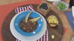 RECETA: Sopa negra de haba y nopal