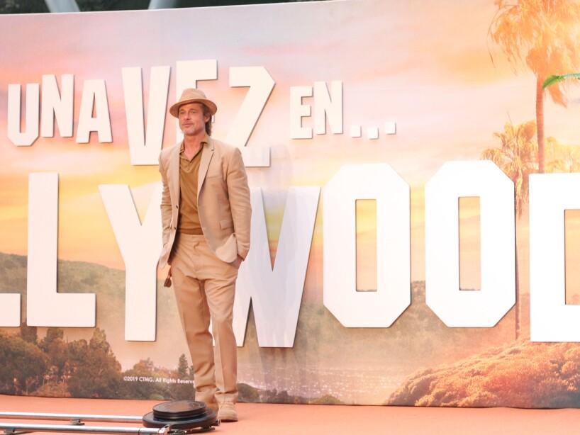 Brad Pitt en México promociona Érase una vez en Hollywood