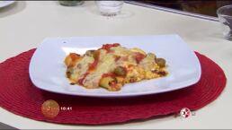 Receta: Canelones de tomate con requesón