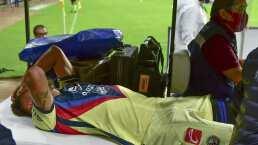 Bruno Valdez fue retirado en ambulancia