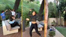 ¡Ana Bárbara se enoja con sus hijos y les lanza la chancla voladora!