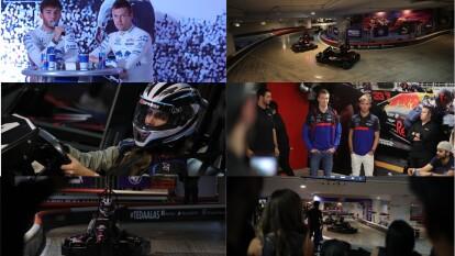 Pilotos de ToroRosso convivieron con kartistas mexicanos, Daniil Kvyat y Pierre Gasly compartieron consejos ante competidores mexicanos.