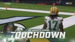 ¡TD Packers! Rodgers con el envío largo para Adams