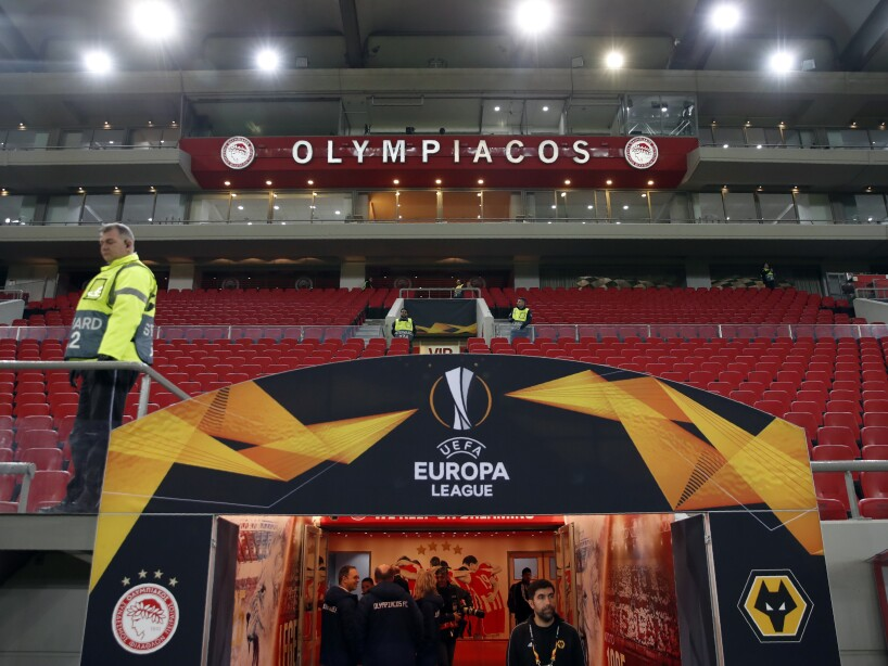 Greece Soccer Europa League Virus Outbreak
