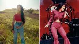 Desde el comedor de su casa, Ángela Aguilar pone a bailar hasta a su abuelita al ritmo de Selena Quintanilla