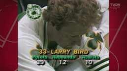 Larry Bird lideraba a Boston en los Playoffs de la NBA en 1984