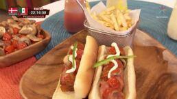 RECETA: Hot dog de res relleno de queso