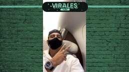 Alan Pulido 'sufre' viajando en jet privado con todos los lujos