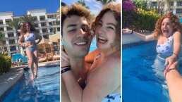 """Novio de Briggitte Bozzo le da románticas lecciones de natación a la actriz: """"Voy a ser tu salvavidas"""""""