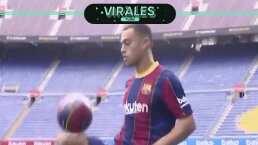 Sergiño Dest ya lució su 'magia' con el Barcelona