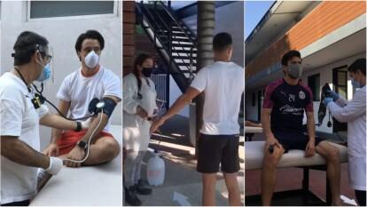 ¡Están de vuelta! Jugadores de Chivas regresaron a sus instalaciones con medidas de precaución.