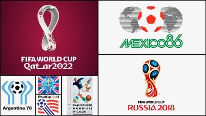Los logos tratan de comunicar y tener algo representativo del país sede.