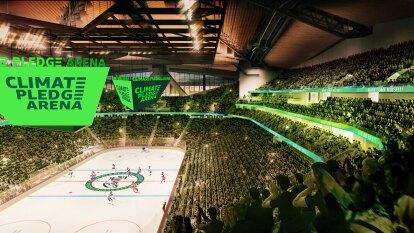 NHL Seattle tendrá un estadio muy innovador para 2021 con un inmueble multifuncional con un compromiso climático cero emisiones de carbono, eliminación de plásticos y agua de lluvia para la pista de hielo.