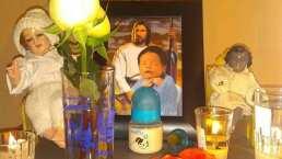 Altar para Dante: Ferdinado Valencia y Brenda Kellerman montaron una ofrenda para su bebé